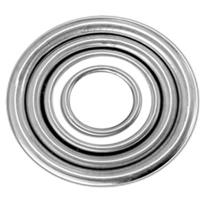 "5/8"" x 3"" Gois Stainless Invisible Weld Rings"